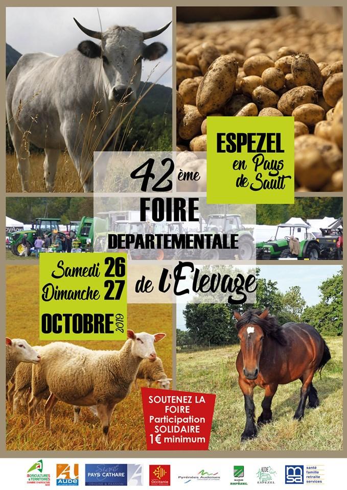 42 ème foire départementale de l'élevage à ESPEZEL
